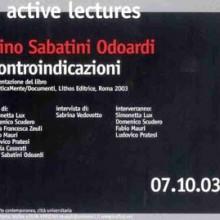 "Gino Sabatini Odoardi, ""Controindicazioni"""