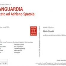 Avanguardia n°29. Dedicato ad Adriano Spatola / Paola Plurale. Sessantaquattro poeti italiani fra due secoli