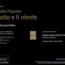 Antonio Papasso. Il tutto e il niente