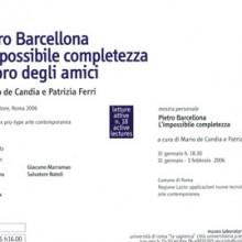 Pietro Barcellona. L'impossibile completezza
